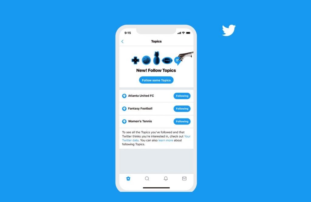 تويتر تتيح للمستخدمين متابعة الموضوعات التي يهتمون بها