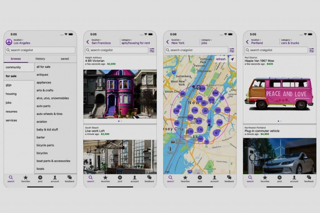 Craigslist تطبيق كريجزليست للإعلانات المبوبة متوفر الآن لهواتف ايفون واندرويد