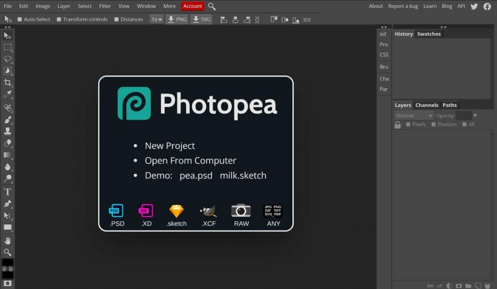 أفضل مواقع تعديل الصور photopea