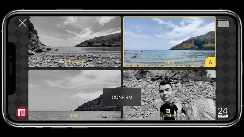 تتضمن مميزات DoubleTake تصوير الفيديو لمستخدمي آيفون التقاط الصور من كاميرات متعددة