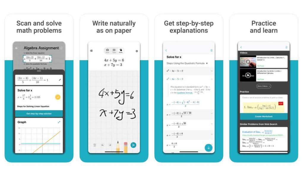تحميل تطبيق Microsoft Math Solver لحل المعادلات الرياضية