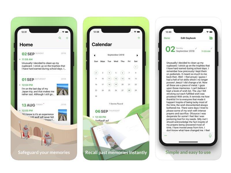 يوفر daybook التطبيق إمكانية طباعة اليوميات بسهولة