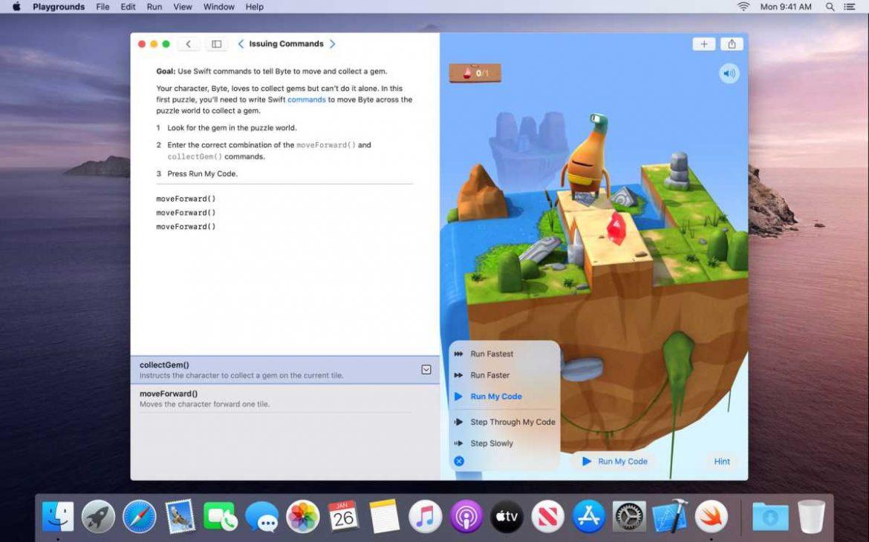آبل توفر تطبيقها لتعلم البرمجة Swift Playgrounds لأجهزة ماك