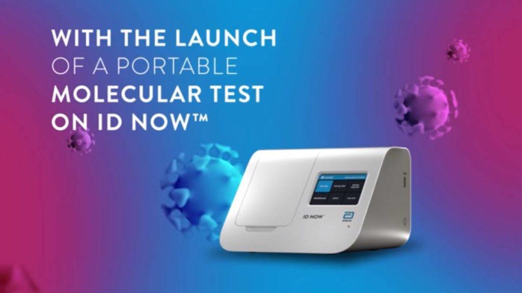 يعتمد اختبار كوفيد 19 الجديد على منصة التشخيص Abbott ID NOW