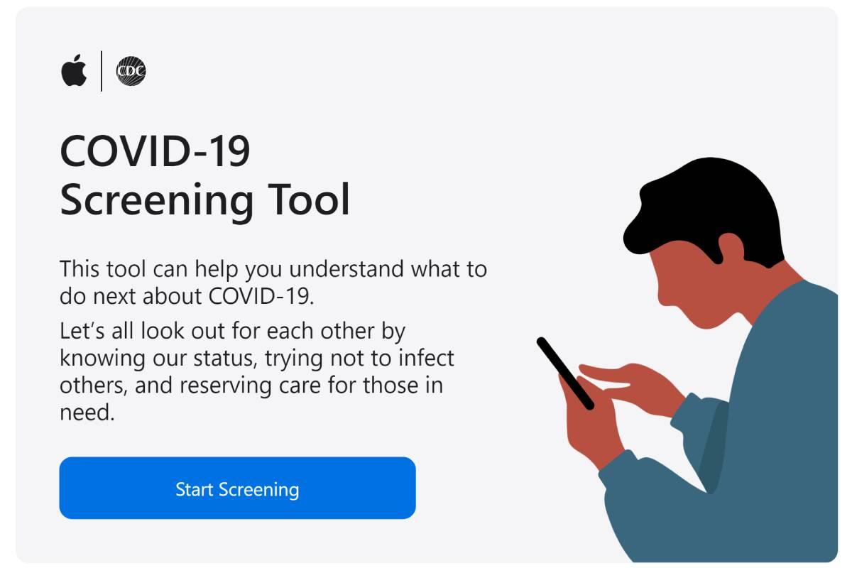 آبل تطلق موقع وتطبيق Apple COVID-19 للمساعدة في مكافحة وباء كوفيد 19