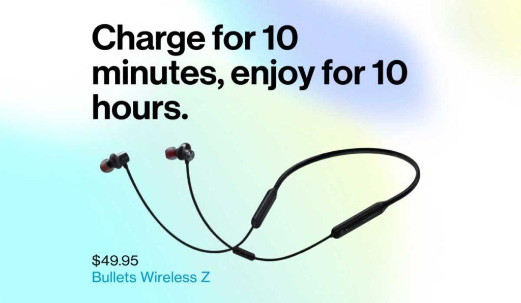 توفر Bullets Wireless Z  للمستخدم ما يصل إلى 10 ساعات من الاستماع إلى الصوت