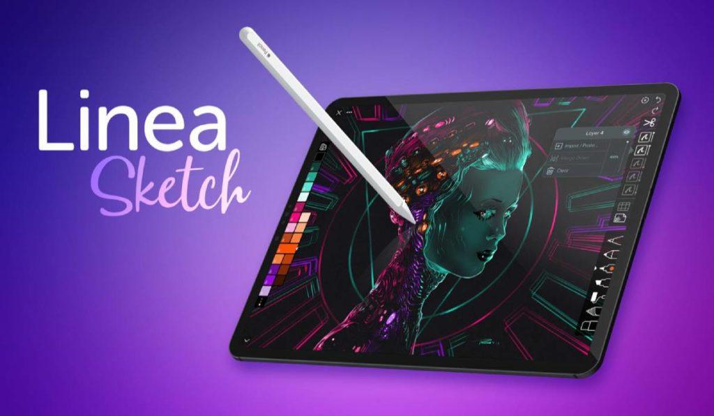 يدعم تطبيق الرسم Linea Sketch كل من هواتف آيفون وأجهزة آيباد