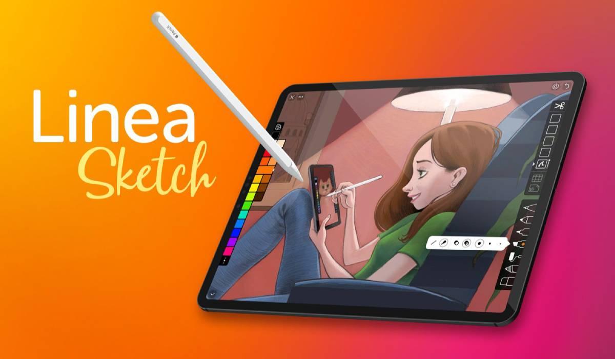 تطبيق الرسم Linea Sketch لايفون وايباد يوفر تسجيل فيديو للخطوات