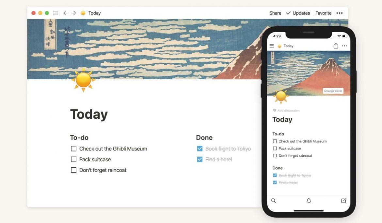 تطبيق Notion لتدوين الملاحظات