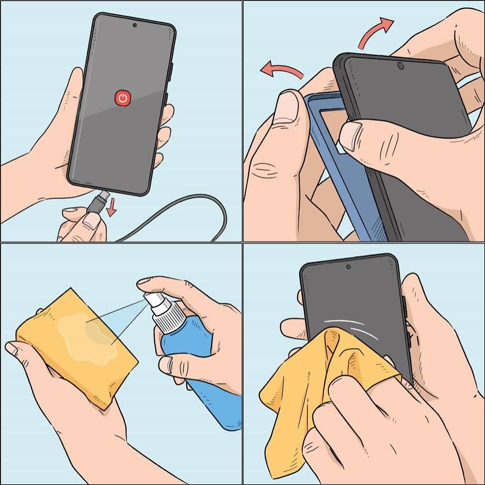 نصائح تنظيف الهواتف الذكية وفقا لشركة سامسونج