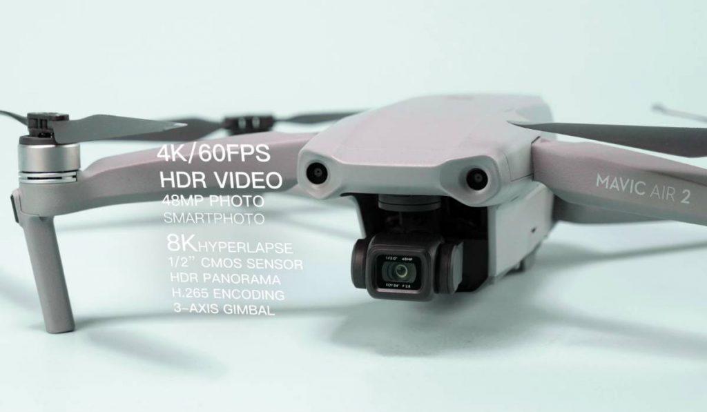الكاميرا في Mavic Air 2