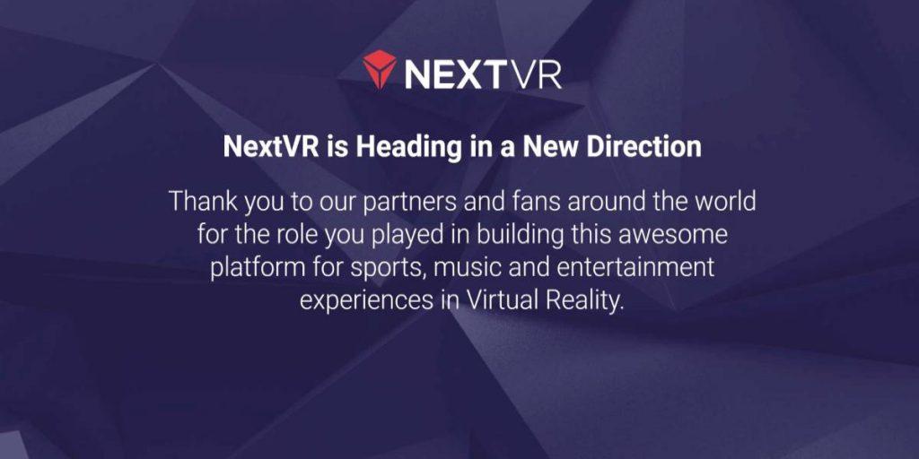شركة الواقع الافتراضي NextVR