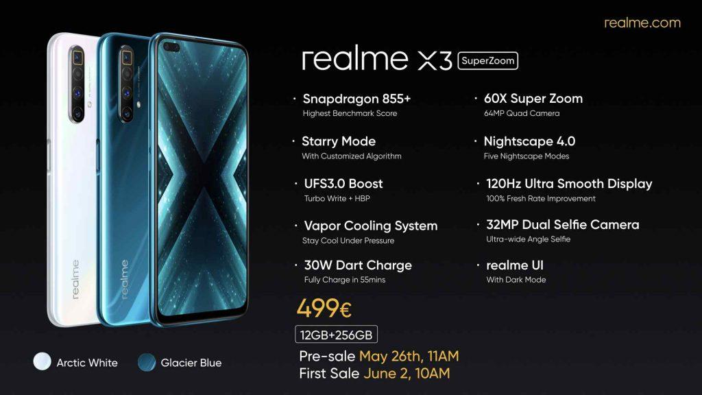 مواصفات Realme X3 Superzoom