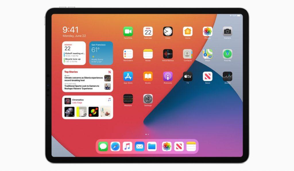 العديد من التحسينات على التصميم iPadOS 14