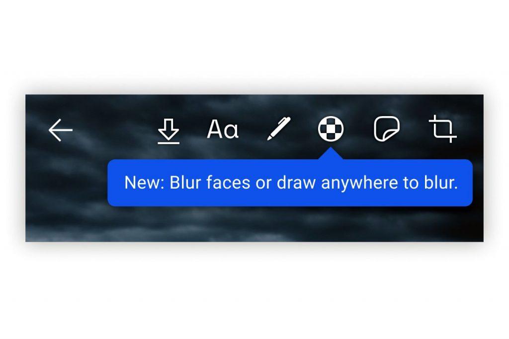 يمكن للمستخدم بسهولة الرسم دائما باستخدام فرشاة التمويه لتعتيم الوجوه أو المناطق التي يريد في الصورة يدويا