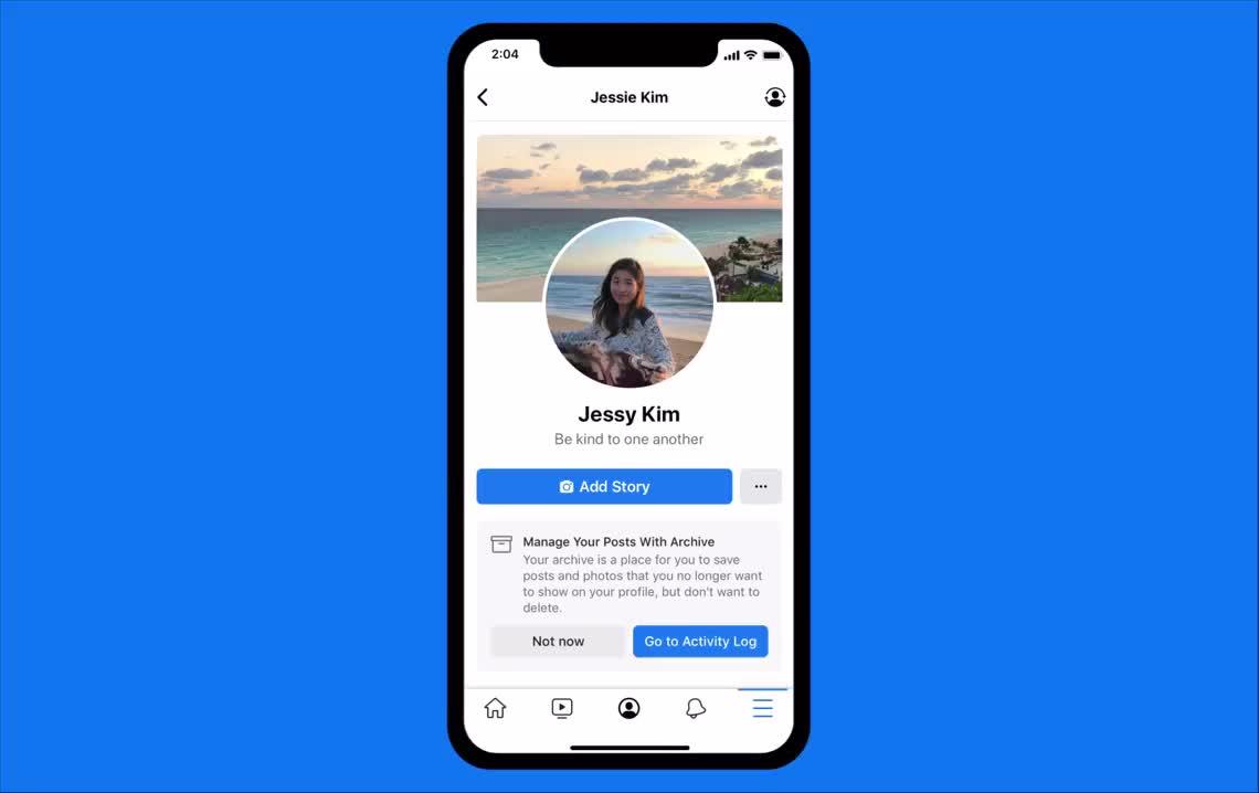 فيسبوك تطلق ميزة Manage Activity