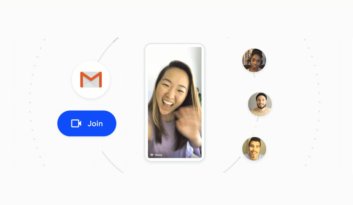 جوجل تتيح لمستخدمي تطبيق Gmail إجراء اجتماعات الفيديو من خلال ميت
