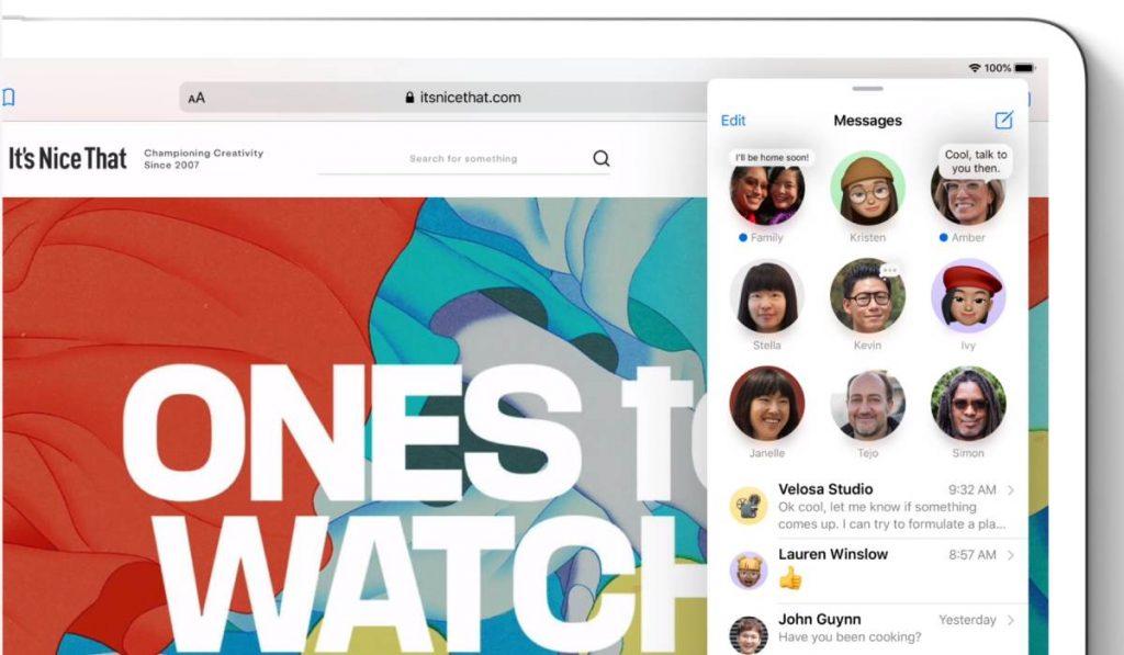 مميزات التحديث الجديد iPadOS 14 تعزيز مميزات تطبيق التراسل