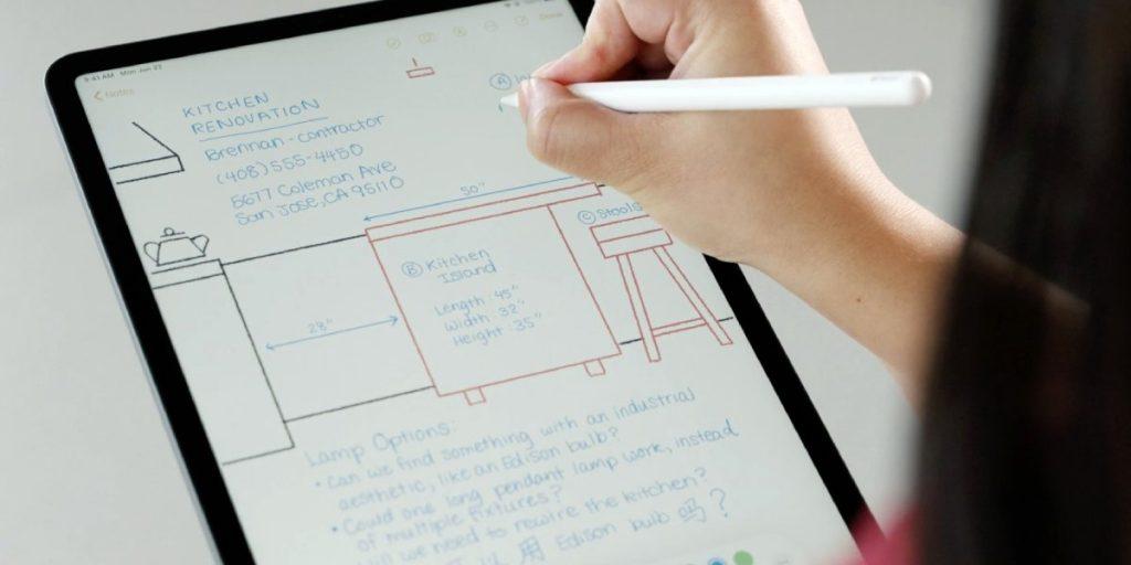 عززت آبل مميزات الكتابة بالقلم الرقمي مع التحديث الجديد iPadOS 14