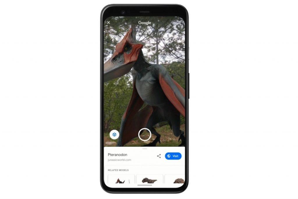 يمكن عرض الديناصورات من خلال هواتف ايفون واندرويد
