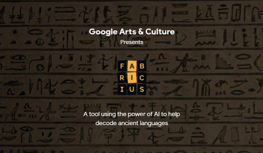 جوجل تطلق أداة Fabricius لتعلم كتابة اللغة الهيروغليفية وترجمتها