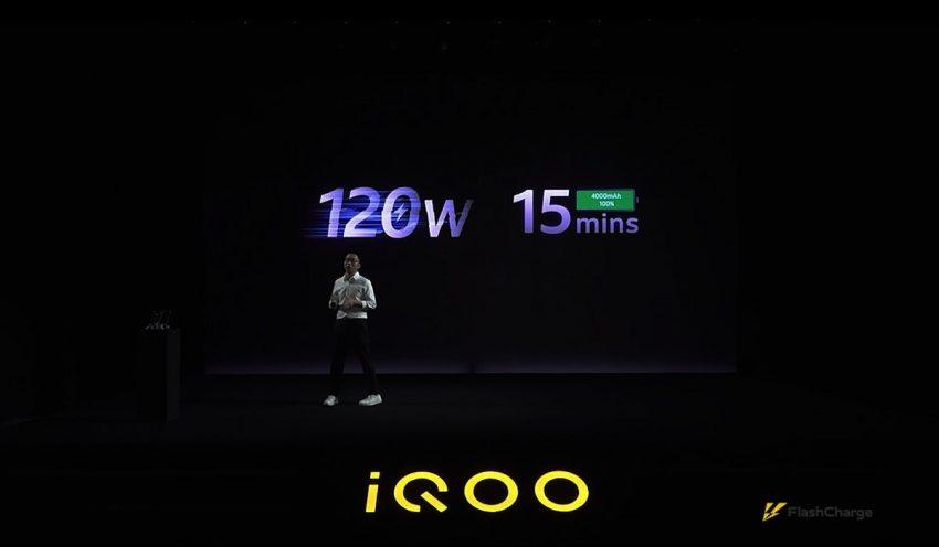 شركة iQOO التابعة لفيفو تعلن عن تقنية الشحن السريع بقدرة 120 وات