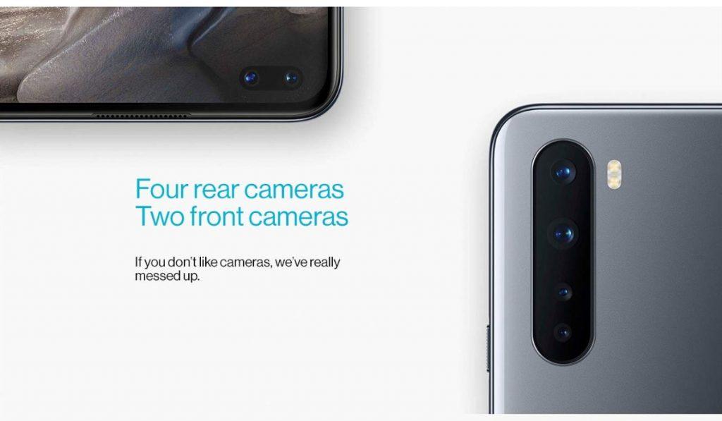 وان بلس نورد مزود بأربع كاميرات خلفية وكاميرتين للسيلفي