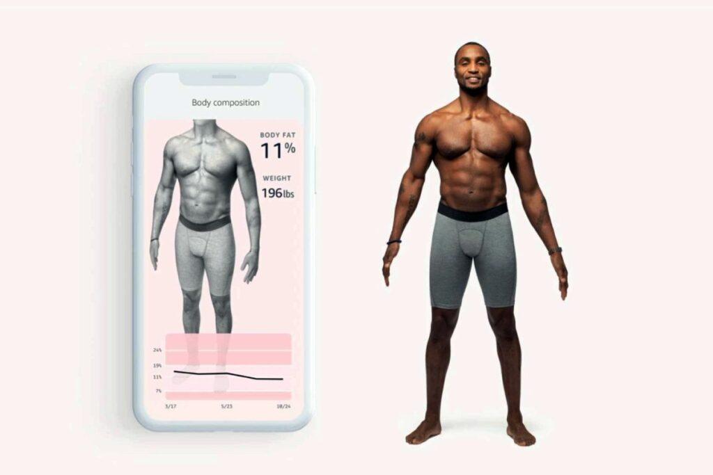 يمكن للمستخدم من خلال سوار وخدمة امازون هالو Amazon Halo تتبع نسبة الدهون في الجسم