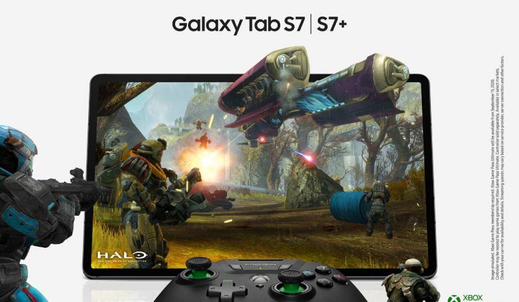 يدعم كل من سامسونج الجديد جالاكسي تاب اس 7 وتاب اس 7 بلس خدمة الألعاب الجديدة من مايكروسوفت Xbox GAME PASS