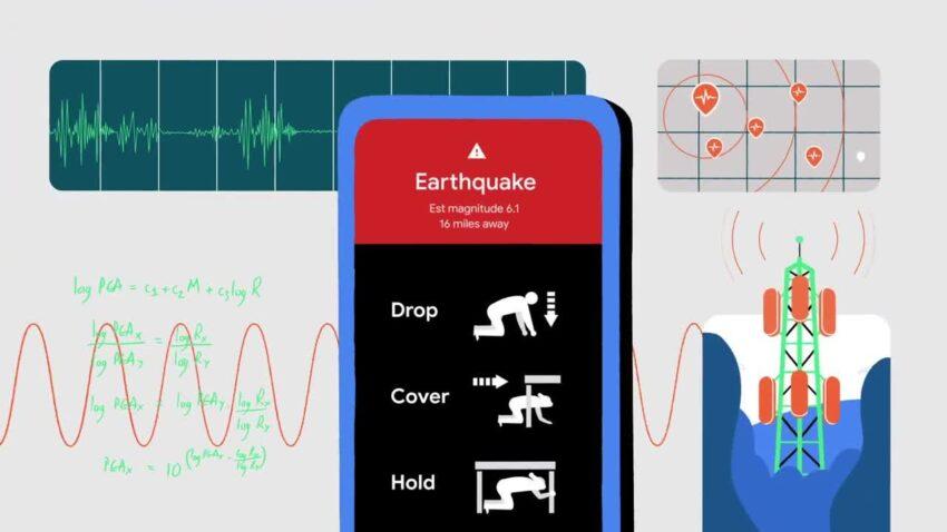 جوجل تستخدم هواتف أندرويد كشبكة للكشف عن الزلازل والتنبيه المبكر