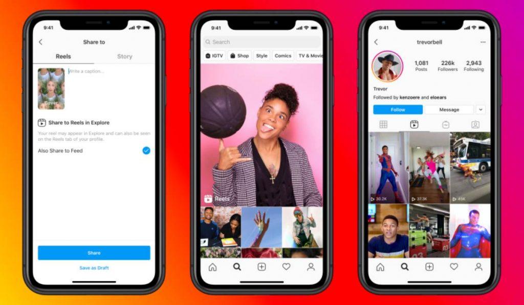 كيف تعمل ميزة Instagram Reels الجديدة منافسة تيك توك في انستجرام