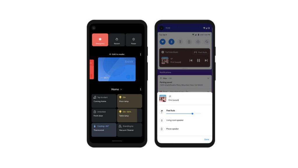 تسهيل التحكم في الأجهزة المتصلة والوسائط android 11