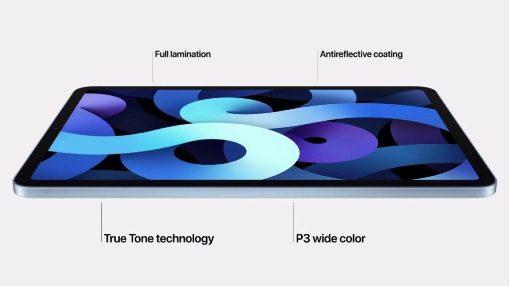 يحمل iPad Air 2020 ايباد اير 2020 الجديد شاشة  Liquid Retina أكبر