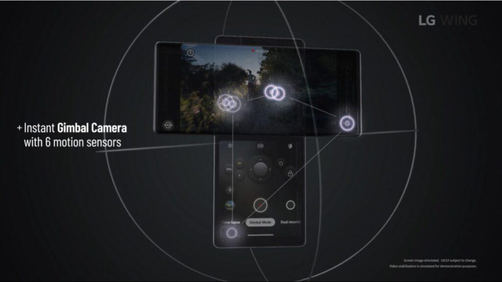 يحمل هاتف ال جي وينج الجديد LG Wing ثلاثة كاميرات خلفية