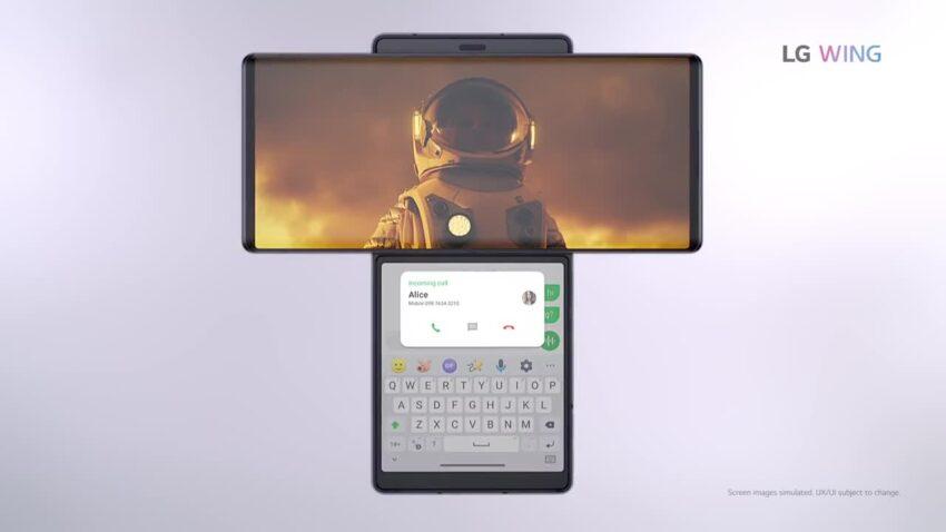 مواصفات LG Wing ومميزات وسعر هاتف ال جي بشاشة دوارة