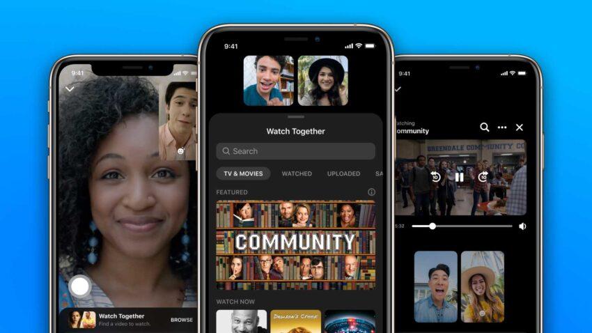 فيسبوك تطلق ميزة المشاهدة معا لمستخدمي تطبيق ماسنجر لايفون واندرويد