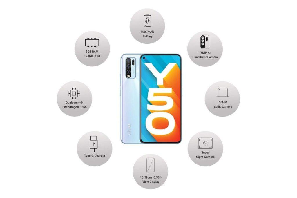 أفضل مميزات هاتف فيفو Vivo Y50