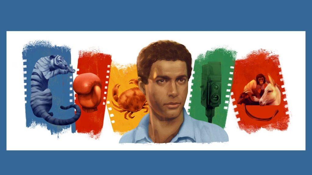 شعار جوجل الاحتفالي بالذكرى الـ71 لميلاد أحمد زكي