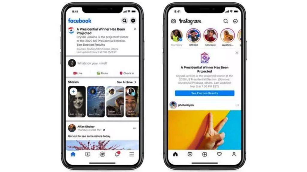 تعتمد شركة فيسبوك في إعلان اسم الفائز في الانتخابات الرئاسية الأمريكية 2020 على رأي الأغلبية من مختلف وسائل الإعلام