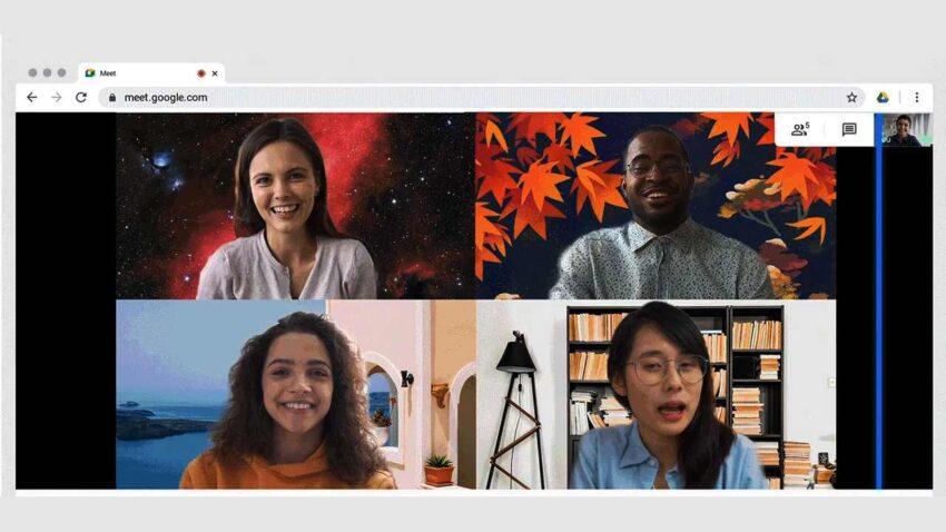 جوجل تتيح لمستخدمي Meet إمكانية تغيير الخلفية في اجتماعات الفيديو
