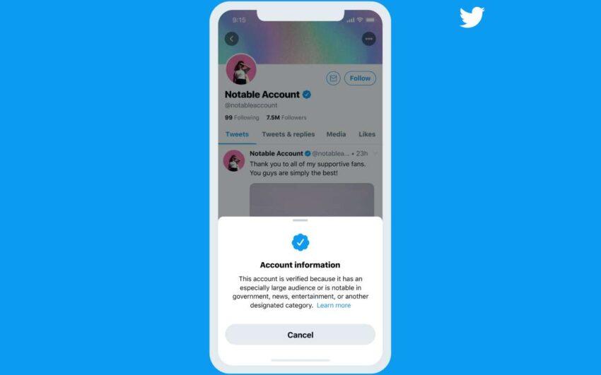 تويتر تطلق برنامج توثيق الحسابات