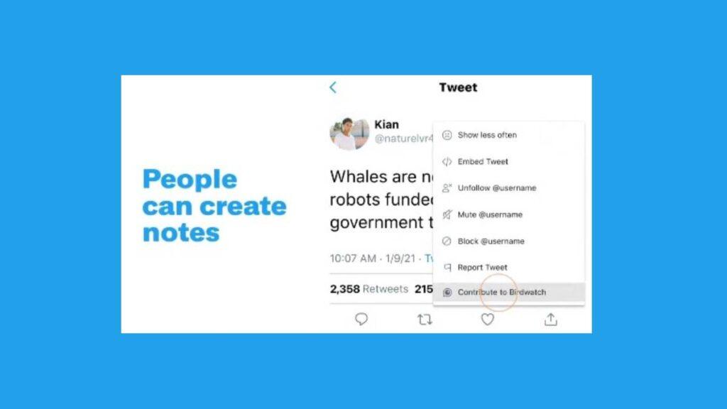 كيف تعمل ميزة أو مبادرة Birdwatch من تويتر