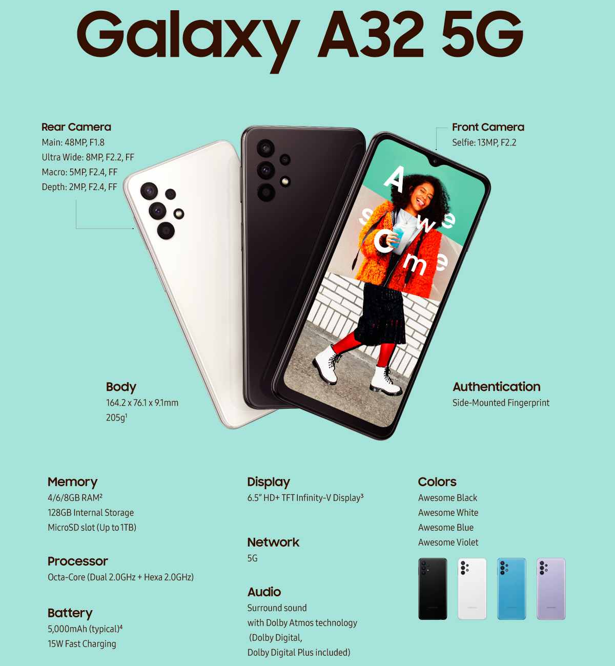 مواصفات سامسونج Galaxy A32 5G