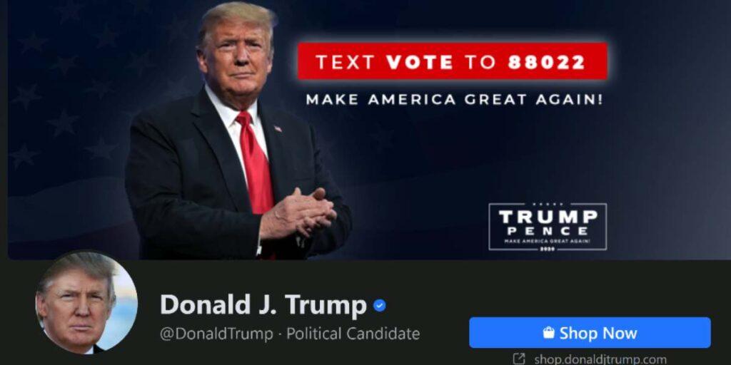 حظر دونالد ترامب على فيسبوك وانستجرام