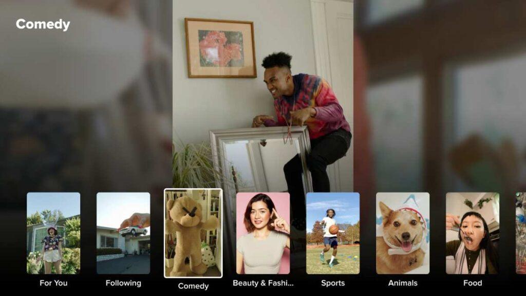 تطبيق تيك توك لأجهزة التلفزيون الذكية بنظام أندرويد
