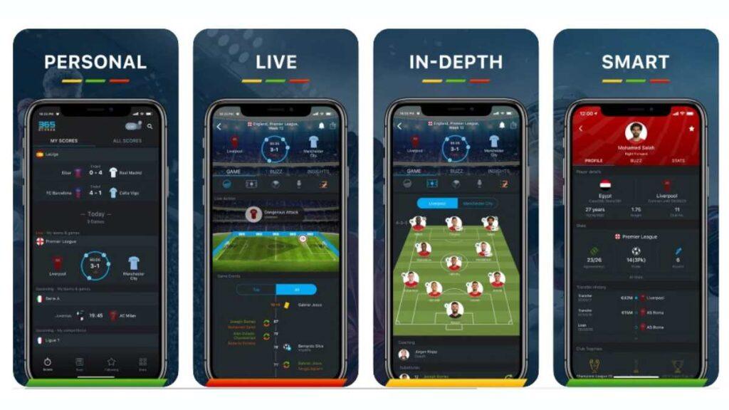 أفضل تطبيقات كرة القدم 365Scores