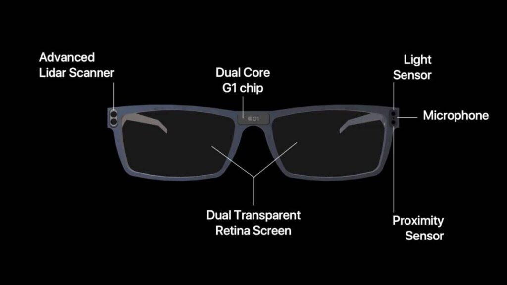 صورة مسربة توضح مميزات وتصميم نظارة AR من آبل Apple المتوقع الكشف عنها في 2025