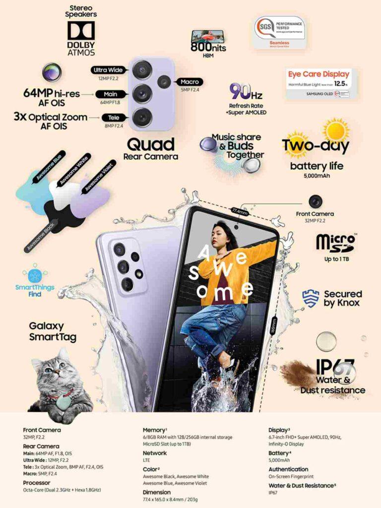مواصفات Samasung Galaxy A72 الكاملة
