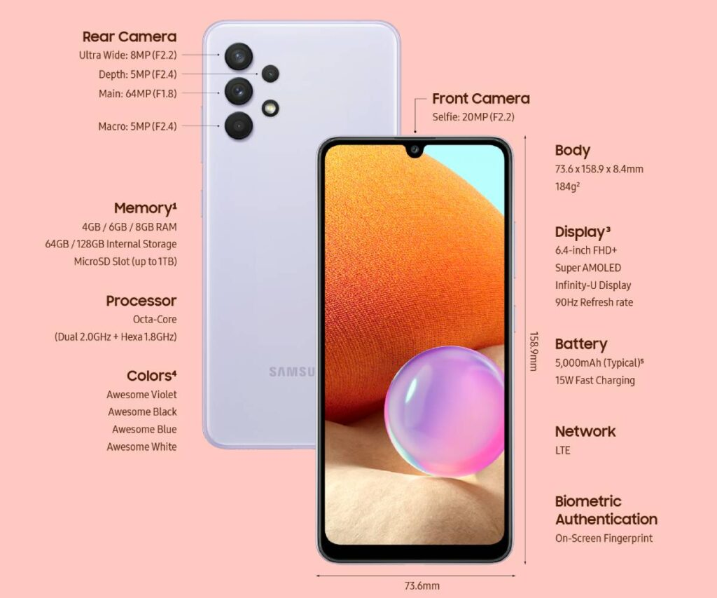 مواصفات Samsung Galaxy A32