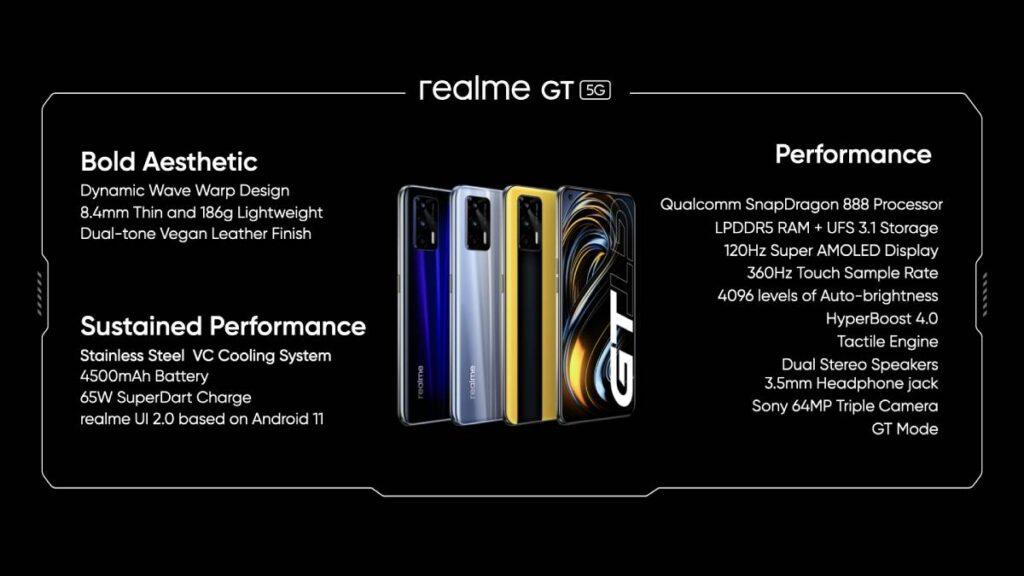 أفضل مميزات هاتف ريلمي الجديد  Realme GT 5G